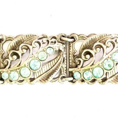 1950s Silver Aqua bracelet