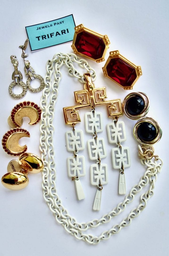 Trifari earrings value