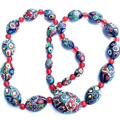 Millifiori Venetian Glass Beads