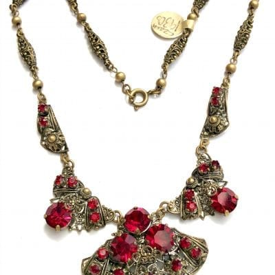 1930s Czech Filigree Necklace