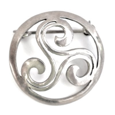 1960s Scandinavian Silver Brooch
