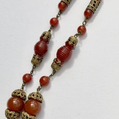 1930s Uranium Blue Necklace