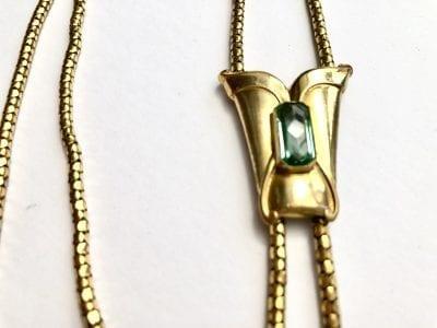 1960s Aquamarine Gold Necklace