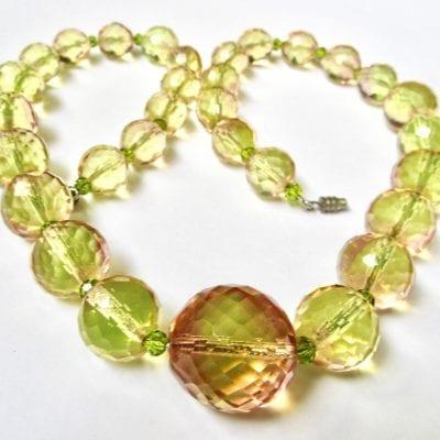 1920s Czech Uranium Necklace