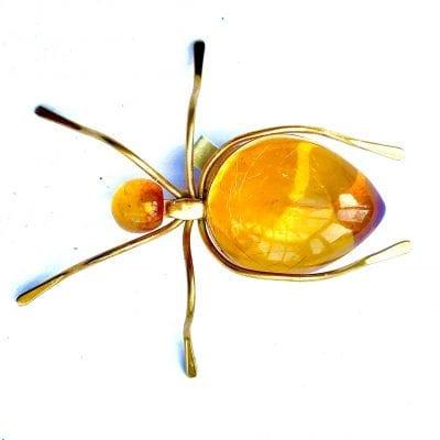 1930s Bakelite Ant Brooch