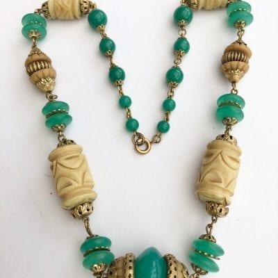 Art Deco Czech Necklace