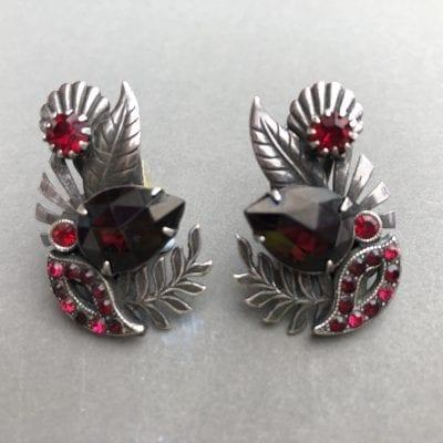 Askew Red Earrings