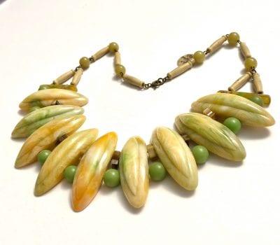 1930s Bakelite & Celluloid Necklace