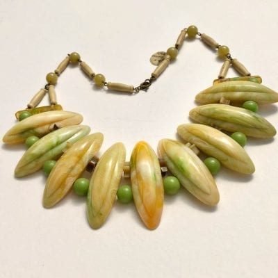 1930s Bakelite & Celluloid Necklace