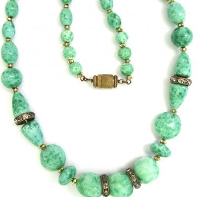 1930s Czech Peking Necklace