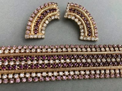 1950s Hobe Bracelet & Earrings