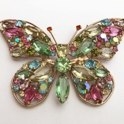 Weiss 1960s Butterfly Brooch