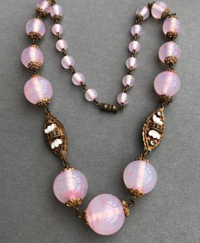 Neiger Enamel Panel Necklace