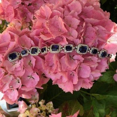 1950s Ciner Sapphire Bracelet