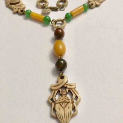 1920s Bakelite Scarab Necklace
