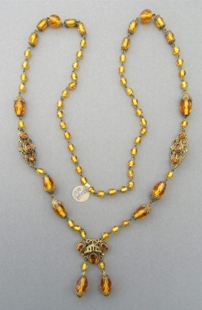 1920s Neiger Amber Necklace