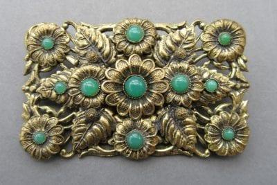 Neiger 1920s Leaf Brooch
