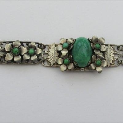 Neiger 1930s Flower Bracelet