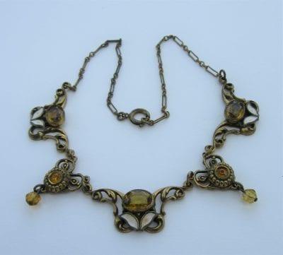 Neiger 1920s Leaf Necklace