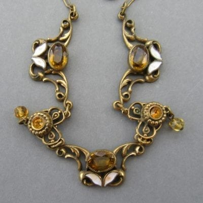 Neiger 1920s Leaf Necklace