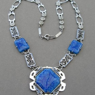 1920s Lapis Blue Necklace