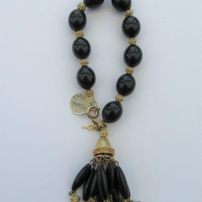 Trifari 1960s Black Bracelet