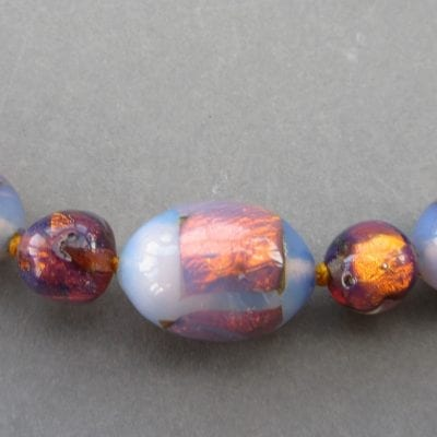 1920s Foil Glass Beads