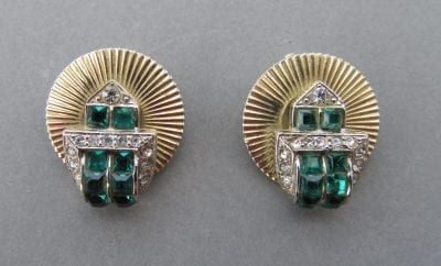 Jewelcraft 1950s Emerald Earrings