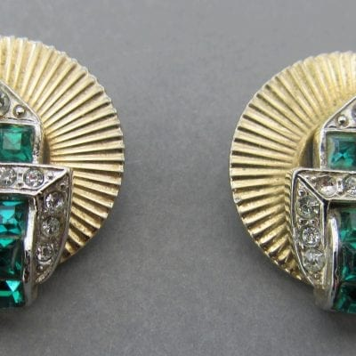 Jewelcraft 1950s Emerald Earrings