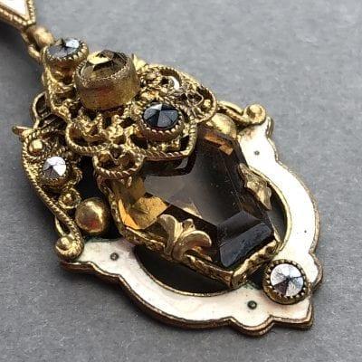 Neiger Enamel Necklace