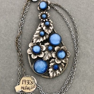 Neiger 1930s Blue Necklace
