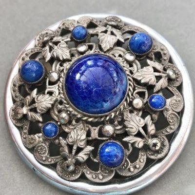 1920s Neiger Blue Brooch