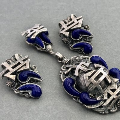1930s Czech Chinese Pendant Set