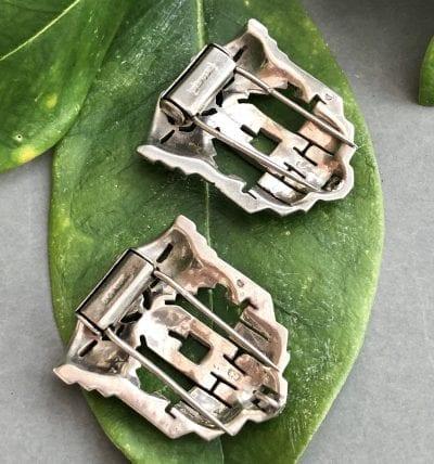 1920s Silver Fur Clips