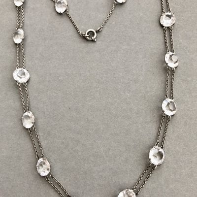 Edwardian Silver Riviere Necklace