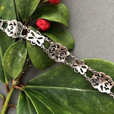 1930s silver marcasite bracelet