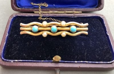 Victorian Turquoise 15ct Brooch