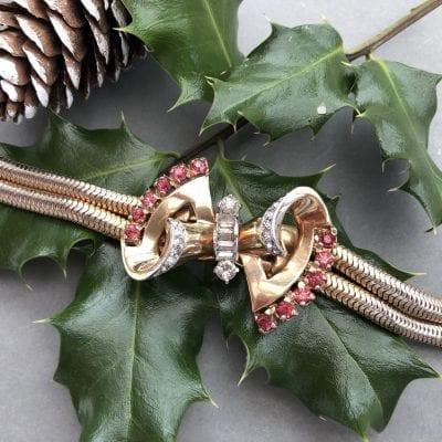 Mazer 1940s Bow Bracelet
