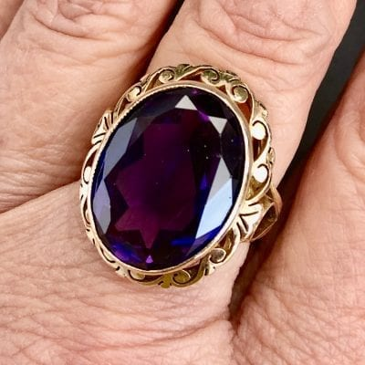 18ct 1950s Alexandrite Ring