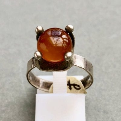 1960s Polish Silver Ring