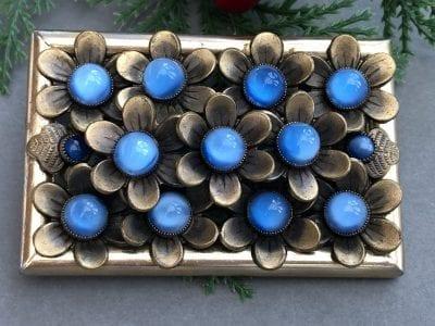 Neiger 1920s Blue Brooch