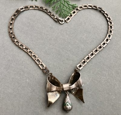 1920s Jakob Bengel Bow Necklace