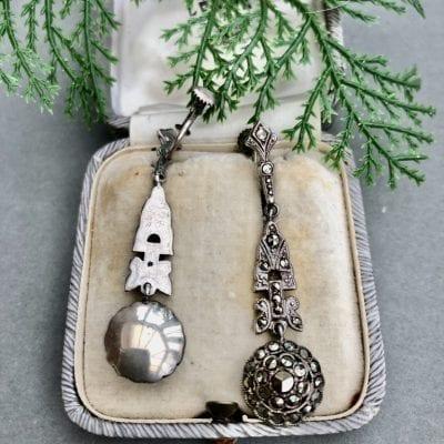 1920s Silver Marcasite Earrings