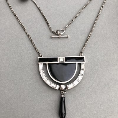 1920s Style Silver Pendant
