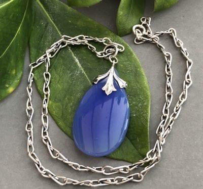 Art Nouveau Chalcedony Necklace