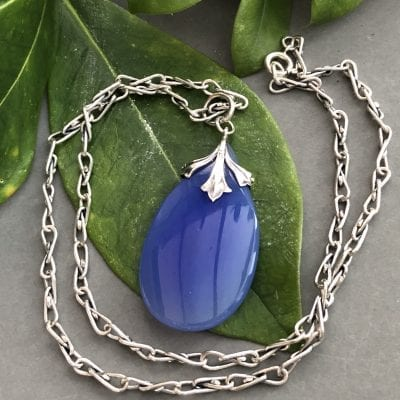 Art Nouveau Chalcedony Necklace