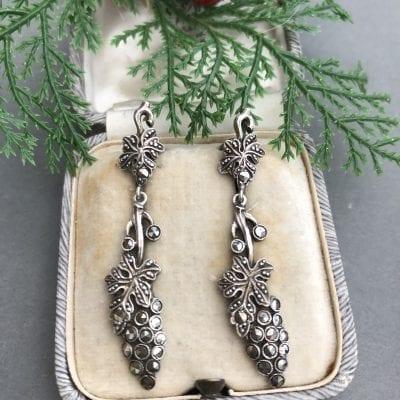 Silver Marcasite 1930s Earrings