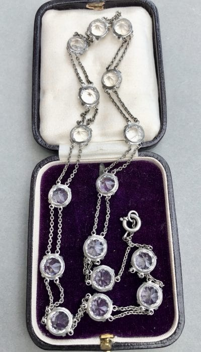 Edwardian Silver Riviere Necklace