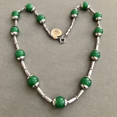 Jakob Bengel Green Deco Necklace