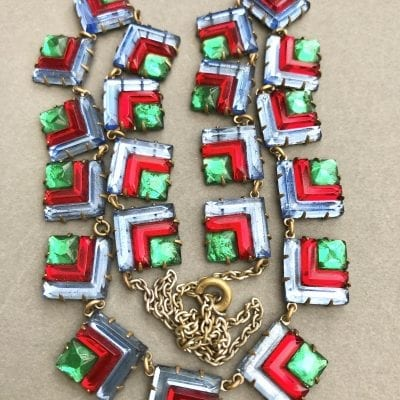 1920s Vauxhall Glass Necklace